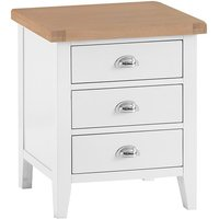 Tyler Extra Large Wooden 3 Drawers Bedside Cabinet In White