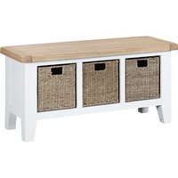 Tyler Large Wooden Hallway Seating Bench In White