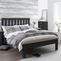 Tyler Wooden Single Bed In Charcoal