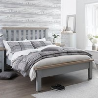 Tyler Wooden Single Bed In Grey