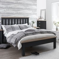 Tyler Wooden Super King Size Bed In Charcoal