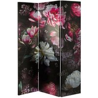 Tylor Canvas Room Divider Screen In Floral Design