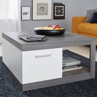 Product photograph showing Universal Coffee Table In Sardegna Smoky Silver And White