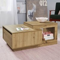 Product photograph showing Universal Wooden Coffee Table In Artisan Oak With Drawer