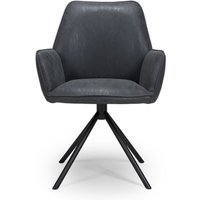 Uno PU Fabric Dining Chair In Wax Grey