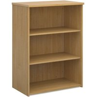Product photograph showing Upton Home And Office Wooden Bookcase In Oak With 2 Shelves