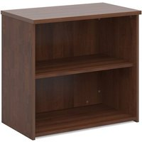 Product photograph showing Upton Home And Office Wooden Bookcase In Walnut With 1 Shelf