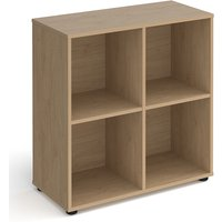 Upton Low Shelving Unit In Kendal Oak With 4 Shelves And Glides