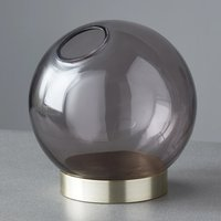 Product photograph showing Vail Globe Glass Plant Holder In Black And Gold