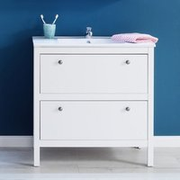 Product photograph showing Valdo Modern Vanity Cabinet With Basin Wide In White