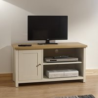 Valencia Wooden Small TV Stand In Cream With 1 Door