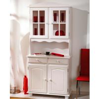 image-Valencia White Wood Kitchen Display Cabinet