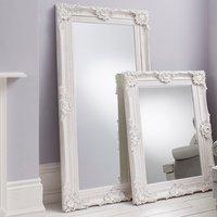 Valley Floor Mirror Rectangular Leaner In White