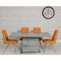 Product photograph showing Cosima Dining Set With 4 Orange Tampa Chairs