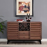 Product photograph showing Vaughn Wooden Wine Cabinet In Walnut
