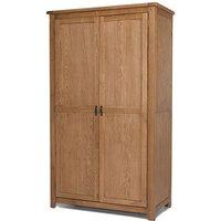 Velum Wooden Double Door Wardrobe In Chunky Solid Oak