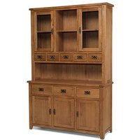 Velum Wooden Large Display Cabinet In Chunky Solid Oak