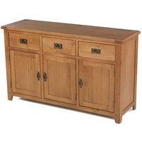 Velum Wooden Large Sideboard In Chunky Solid Oak