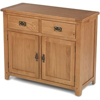 Velum Wooden Medium Sideboard In Chunky Solid Oak