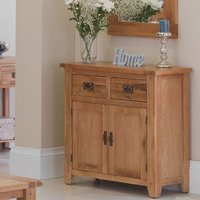 Velum Wooden Small Sideboard In Chunky Solid Oak