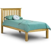 Velva Wooden Single Low Foot Bed In Low Sheen Lacquer