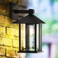 Product photograph showing Venice Outdoor Wall Light In Black With Water Glass