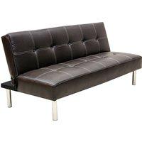 Venus PVC Sofa Bed In Brown