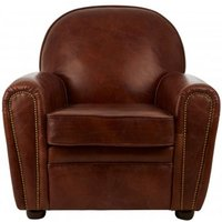 Product photograph showing Victory Classic Leather Armchair In Brown