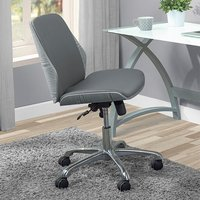 Product photograph showing Vikena Faux Leather Office Chair In Grey