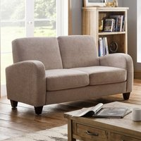 Vivo Chenille Fabric Fold Out Sofa Bed In Mink