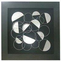 Framed Silver Discs Wall Art