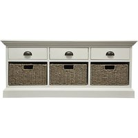 Wantagh 3 Drawers And 3 Baskets Hallway Bench In Antique White
