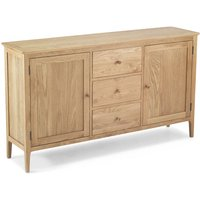 Wardle Wooden Extra Large Sideboard In Crafted Solid Oak