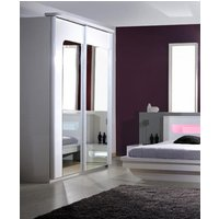 Pulse 2 Door High Gloss Wardrobe In White