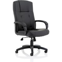 Product photograph showing Warhol Bonded Leather Executive Chair In Black With Wheels