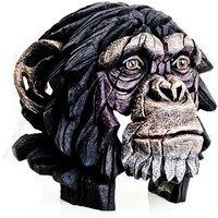 Product photograph showing Wasat Chimpanzee Bust Edge Sculpture Ornament