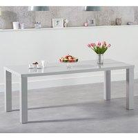 Washington 200cm Dining Table In Light Grey High Gloss