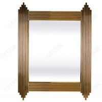 Product photograph showing Wazn Rectangular Bedroom Mirror In Gold