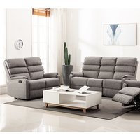 Westport Fabric 2 Seater And 3 Seater Sofa In Charcoal Grey
