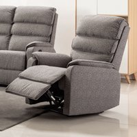 Westport Fabric Upholstered Armchair In Charcoal Grey