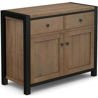 Veto Small Sideboard In Chunky Oak With Black Metal Frame