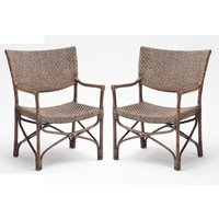 Product photograph showing Wickers Squire Rustic Wooden Accent Chairs In Pair