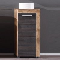 Product photograph showing Wildon Bathroom Storage Cabinet In Walnut Touch Wood Dark Brown