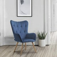 image-Willow Fabric Bedroom Armchair In Midnight Blue