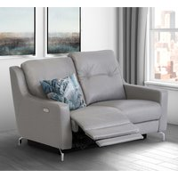 Product photograph showing Windsor Faux Leather Electric Recliner 2 Seater Sofa In Grey