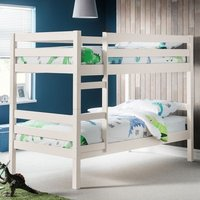 Product photograph showing Winona Wooden Bunk Bed In Surf White Lacquer Finish