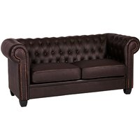 Product photograph showing Winston Leather And Pvc 2 Seater Sofa In Brown