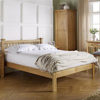 Product photograph showing Woburn Wooden Double Bed In Oak
