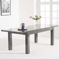 Product photograph showing Worrel Wooden Extending Dining Table In Dark Grey High Gloss