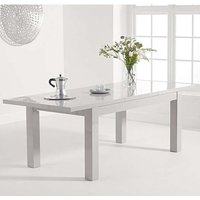 Product photograph showing Worrel Wooden Extending Dining Table In Light Grey High Gloss
